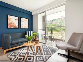 Una sala de estar llena de muebles y una televisión de pantalla plana en Apartamento en Camino al Parque Loma de los Bernal