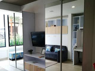 Una vista de una sala de estar y una sala de estar en VENDO APARTAESTUDIO CENTRO INTERNACIONAL