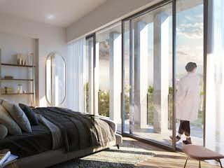 Una sala de estar llena de muebles y una ventana en Adara Narvarte