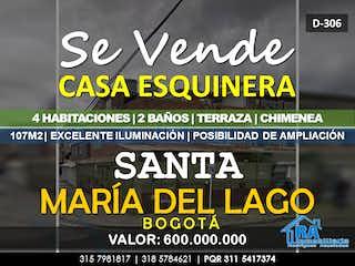 Casa en venta en Santa María Del Lago de 4 alcobas