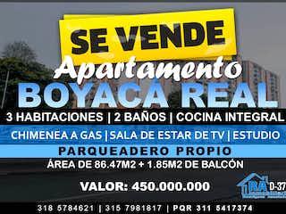 Apartamento en venta en Boyacá Real de 86m² con Piscina...