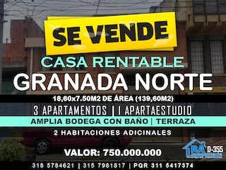 Casa En Venta En Bogotá Granada Norte