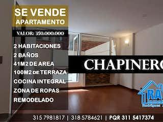 Un collage de fotos con un signo en Apartamento en venta en Barrio Teusaquillo de 2 hab.