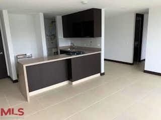 Una cocina con lavabo y microondas en San Cayetano Parque Residencial