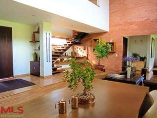 Una sala de estar llena de muebles y una planta en maceta en Agua Luna