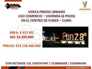 Lote en venta en Casco Urbano Funza de 4400m²