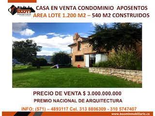 Casa en venta en Aposentos de 1200m² con Bbq...