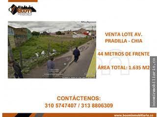 Lote en venta en Casco Urbano Chía de 1635m²
