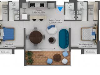 Apartamento en venta en Casco Urbano Santa Fé De Antioquia de 76m² con Gimnasio...