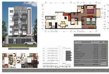 Departamento # 201 de 64.50 m2 con 2 recámaras, Emiliano Zapata, Portales, CDMX