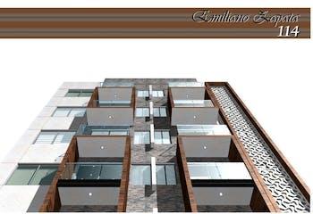 Departamento # 103 de 67.8 m2 con 2 recámaras, Emiliano Zapata, Portales, CDMX