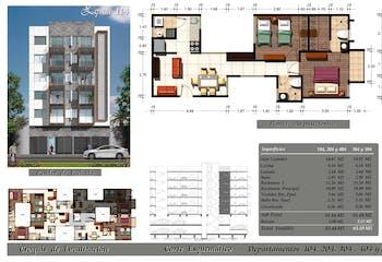 Departamento # 404 de 63.40 m2 con 2 recámaras, Emiliano Zapata, Portales, CDMX