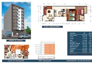 Departamento # 303 de 73.60 m2 con 2 recámaras, Lázaro Cárdenas 819 , Portales,