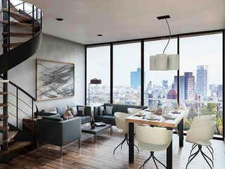 Una habitación llena de muebles y una gran ventana en Park Alpes