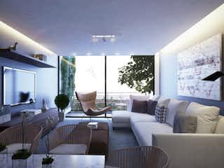 Una sala de estar llena de muebles y una televisión de pantalla plana en Río Amazonas 74