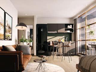 Una sala de estar llena de muebles y una televisión de pantalla plana en Artesano
