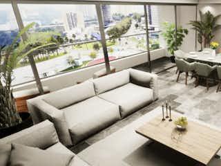 Una sala de estar llena de muebles y una mesa en ISOLA Bosque Real