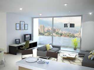Una sala de estar llena de muebles y una gran ventana en Sakura