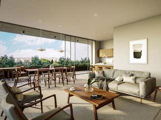 Una sala de estar llena de muebles y una televisión de pantalla plana en Hacienda Santa Bárbara 107