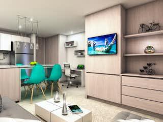 Una sala de estar llena de muebles y una televisión de pantalla plana en VERDHIA CAJICA