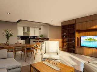 Una sala de estar llena de muebles y una televisión de pantalla plana en Almina