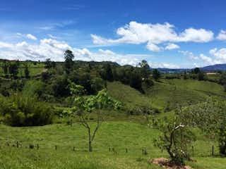 Un gran campo de hierba con una montaña en el fondo en Finca en María Auxiliadora, Marinilla, 3 habitaciones- 102400m2.