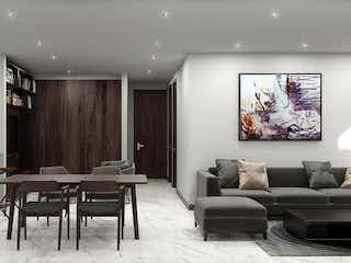 Una sala de estar llena de muebles y una mesa en Avalia