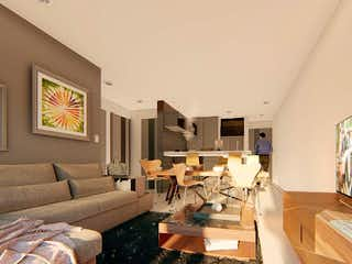 Una sala de estar llena de muebles y una televisión de pantalla plana en BAU Desierto