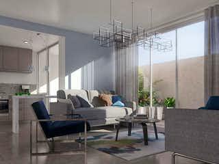 Una sala de estar llena de muebles y una gran ventana en Repúblicas 73