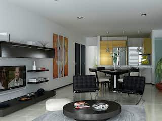 Una sala de estar llena de muebles y una televisión de pantalla plana en Moca