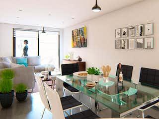 Una sala de estar llena de muebles y una televisión de pantalla plana en El Faro Portales
