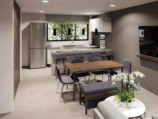 Una sala de estar llena de muebles y una televisión de pantalla plana en Díaz Mirón 42