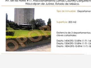 Departamento en Venta en Fracc Lomas Country Conjunto Finestre Naucalpan de Juárez