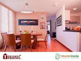 Una sala de estar llena de muebles y una televisión de pantalla plana en MonteVerde Parque Residencial