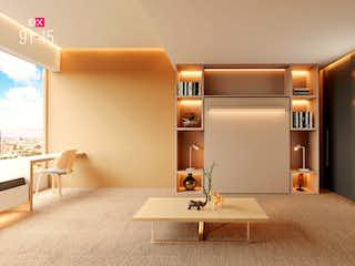 Un cuarto de baño con lavabo y un espejo en EIX 91-15 Living Units