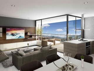 Una sala de estar llena de muebles y una gran ventana en Tierra Grata Bruja Encantadora