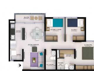 Apartamento en venta Caldas (Andalucia) de 54,53