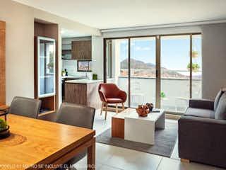 Una sala de estar llena de muebles y una gran ventana en Flor de Agua Apartamentos