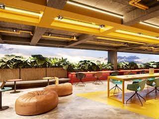 Una habitación llena de un montón de muebles de madera en Neo