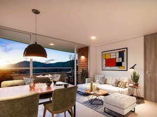 Una sala de estar llena de muebles y una lámpara de araña en Entrehojas Sauce