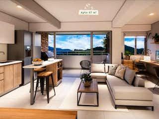 Una sala de estar llena de muebles y una gran ventana en Herbario