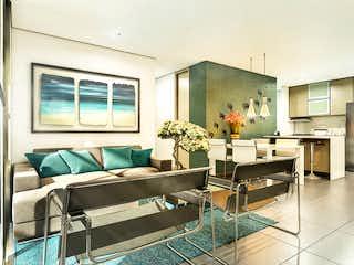 Una sala de estar llena de muebles y una ventana en Foretti