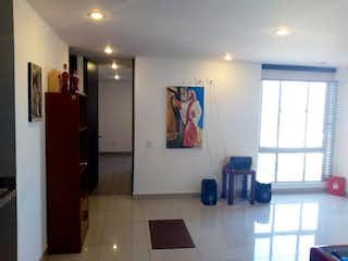 Una cocina con fregadero y nevera en Apartamento en Bogotá, San Joaquín - con dos habitaciones