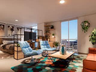 Una sala de estar llena de muebles y una chimenea en Alcázar Living