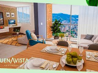 Una sala de estar llena de muebles y una mesa en Buenavista