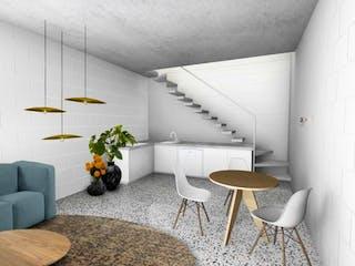 Una sala de estar llena de muebles y una planta en maceta en Fresno 276