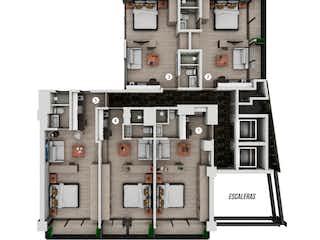 Departamento Loft  en Venta para estrenar en Guadalupe Inn, $2,612,062