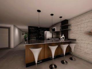 Una cocina con una mesa y sillas en ella en Platon 148