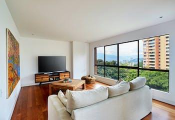 Apartamento en El Tesoro - Poblado, alta campiña con 2 niveles y 4 habitaciones