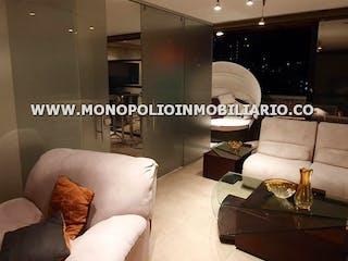Una sala de estar llena de muebles y una gran ventana en CALLE 5A  13